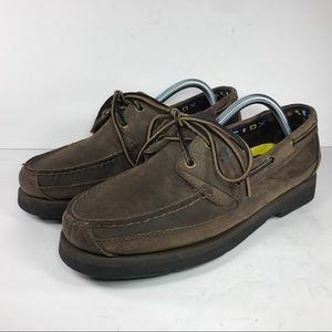 Timberland Brown Leather Boat Shoes Loafers Sz 9.5